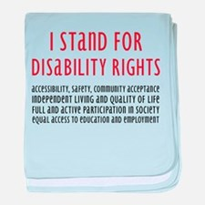 Disability Rights baby blanket