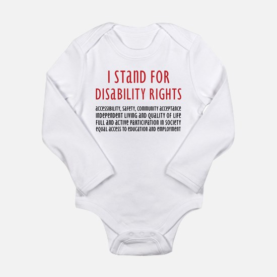 Disability Rights Long Sleeve Infant Bodysuit