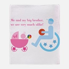 Big brother in wheelchair - Throw Blanket