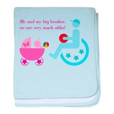 Big brother in wheelchair - baby blanket