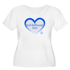 Wolfhound Blue Heart T-Shirt