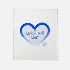 Cute Jack russell mom Throw Blanket