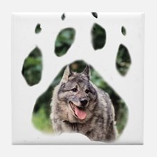Norwegian Elkhound paw Tile Coaster