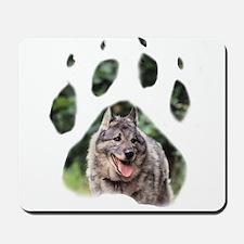 Norwegian Elkhound paw Mousepad
