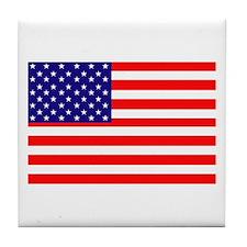 AMERICAN FLAG Tile Coaster