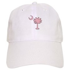 Pink polka dot palmetto Baseball Cap