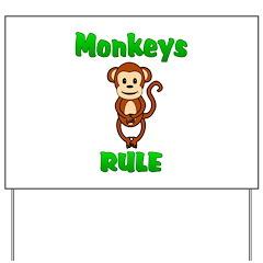 Monkey Yard Sign