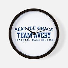 Team Avery - Seattle Grace Wall Clock