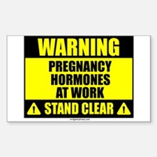 Pregnancy hormone warning Decal