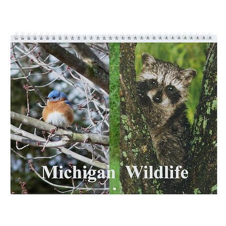 Michigan Animals Wall Calendar