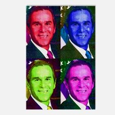 Colorful George W. Bush  Postcards (Package of 8)