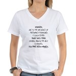 You have been warned funny pregnancy Women's V-Nec