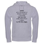 You have been warned funny pregnancy Hooded Sweats