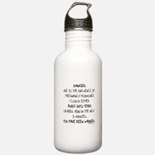 You have been warned funny pregnancy Water Bottle