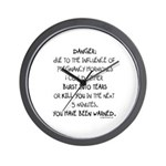 You have been warned funny pregnancy Wall Clock