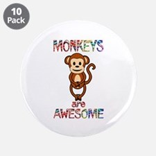 """MONKEY 3.5"""" Button (10 pack)"""