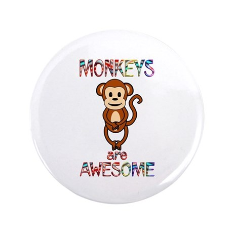 "MONKEY 3.5"" Button (100 pack)"