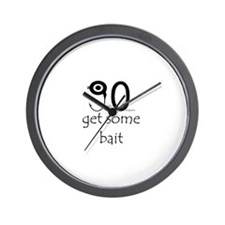 Go get some bait Wall Clock