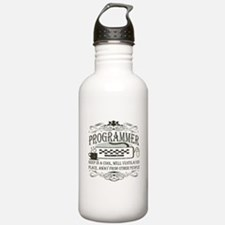 Vintage Programmer Water Bottle