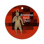 Krampus Rules Yule tree ornament