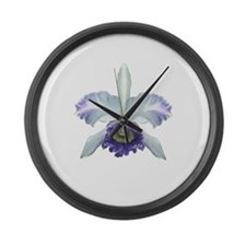 Colorful Orchids Large Wall Clock