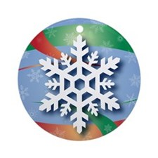 Snowflake 4 Ornament (Round)