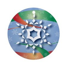 Snowflake 9 Ornament (Round)