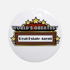 World's Greatest Real Estate Ornament (Round)