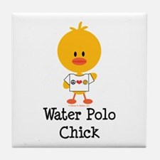 Water Polo Chick Tile Coaster