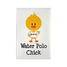 Water Polo Chick Rectangle Magnet (100 pack)