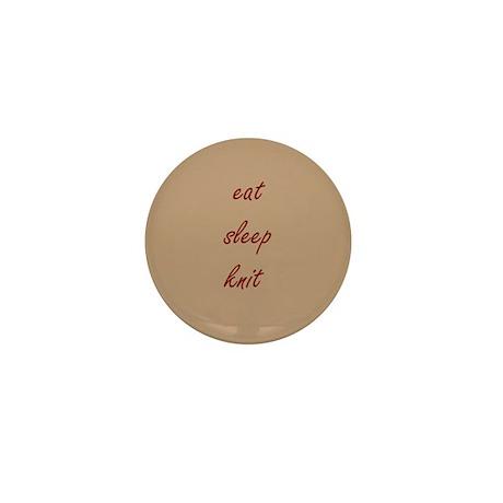Eat Sleep Knit Tan Mini Button (10 pack)