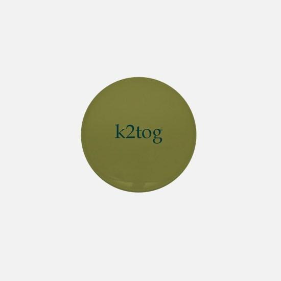 k2tog Green Mini Button