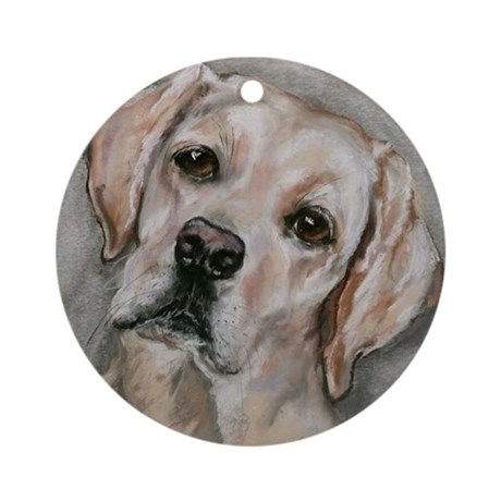 Ornament (Round), Labrador Retriever, 'Bailey'