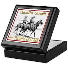 Two Riders Headin'South Keepsake Box
