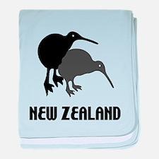 Funny New Zealand Kiwi baby blanket