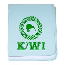 Green New Zealand Kiwi baby blanket