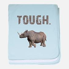 Tough Black Rhino baby blanket