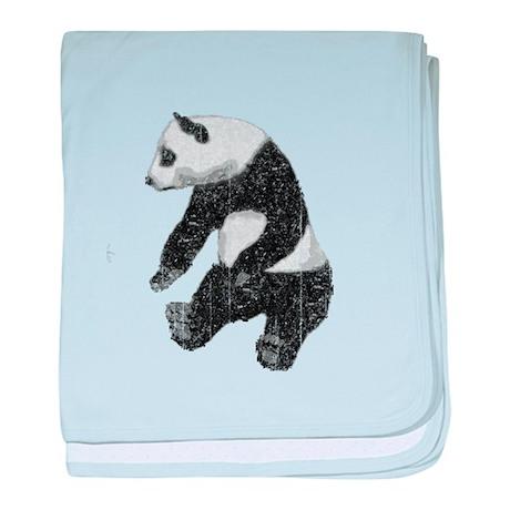 Vintage Panda Bear baby blanket
