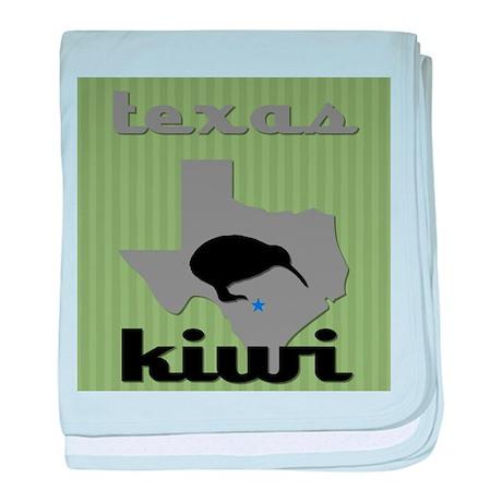 Texas Kiwi baby blanket