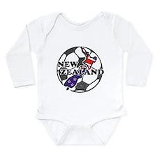 New Zealand Soccer Long Sleeve Infant Bodysuit