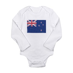 New Zealand Flag Long Sleeve Infant Bodysuit