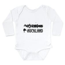 Auckland Skyline Vintage Long Sleeve Infant Bodysu