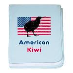 American Kiwi baby blanket