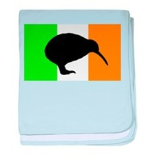 Irish Flag Kiwi baby blanket