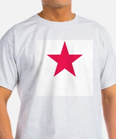 Red Star | Ash Grey T-Shirt