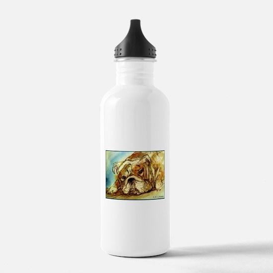 Bulldog, cute, Water Bottle