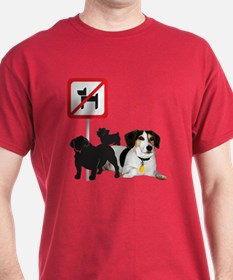 Arnie Says No Dogs! T-Shirt