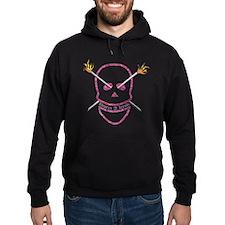Born 2 knit Hoodie (dark)