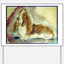 basset hound, fun, dog, Yard Sign