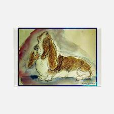 basset hound, fun, dog,Rectangle Magnet (100 pack)
